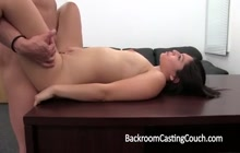 Creampie on the casting