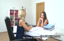 Great lesbian casting video