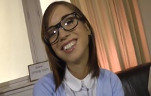 Classy European teen loves porn