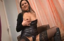 French MILF in her first porn