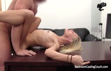 Skinny blonde wants to be an adult actress